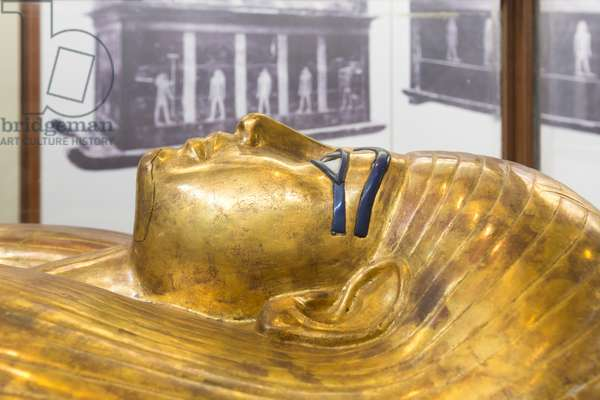 Thuya's outer anthropoid coffin, Egyptian Museum, Cairo, Egypt