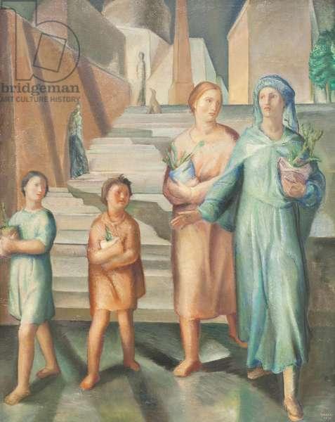 Women at night, 1926 (oil on canvas)