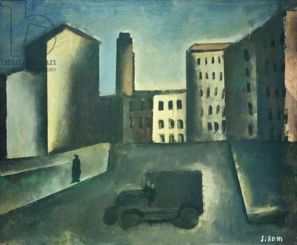 Periferia con camion, 1920, Mario Sironi (oil on canvas)