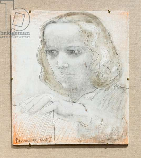 Self portrait, 1950 (oil & pencil on board)