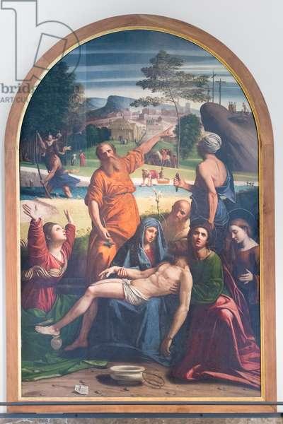 The deposition, 1521, Giovan Battista Benvenuti, known as l'Ortolano (oil on panel)