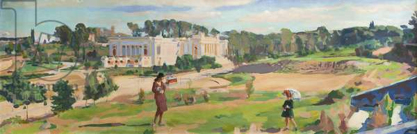 Valle Giulia, 1921 (oil on canvas)