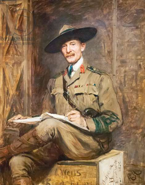 Robert Stephenson Smyth Baden-Powell, 1903 (oil on canvas)