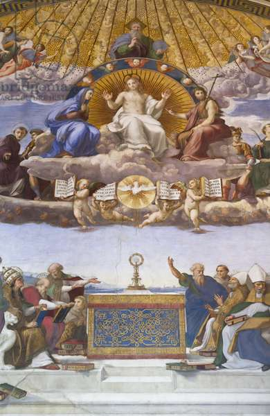 Detail of the Disputation of the Holy Sacrament, c.1509-10 (fresco)
