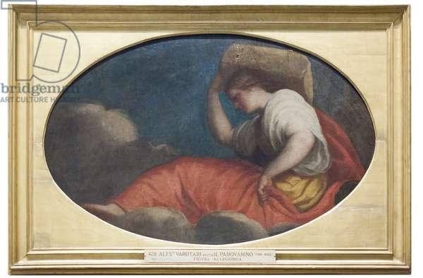 Allegorical figure (oil on canvas)