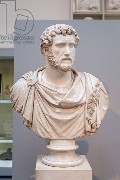 Bust of Antininus Pius in military dress, about 140 AD