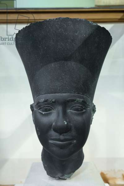 King Userkaf, 5th dynasty, from the sun temple of Userkaf, Schist, Egyptian Museum, Cairo, Egypt