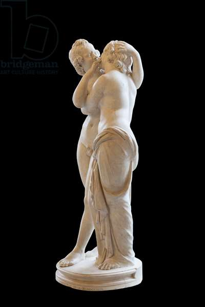 Statue of Cupid and Psyche (marble)