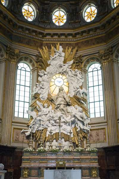 Main altar of the Naples cathedral, Naples, Italy, 18th century (marble, stucco)