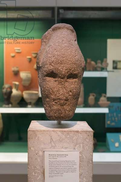 Head of a Ammonite king, iron age II, 8th century BC