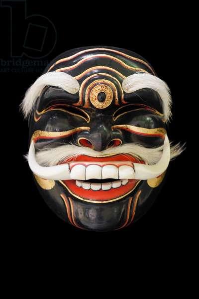 Mask representing Sidakarya Selem, used in the dance drama of Topeng Pajegan, from Bali