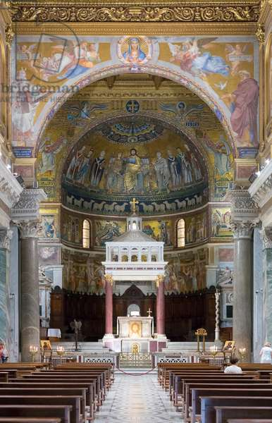 Basilica Santa Maria in Trastevere, Piazza Santa Maria in Trastevere, Rome, Italy (photo)