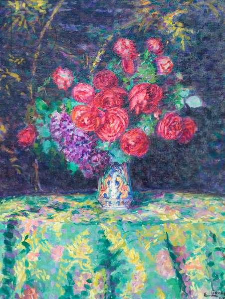 Rose d'inverno, 1914, Enrico Lionne (painting)