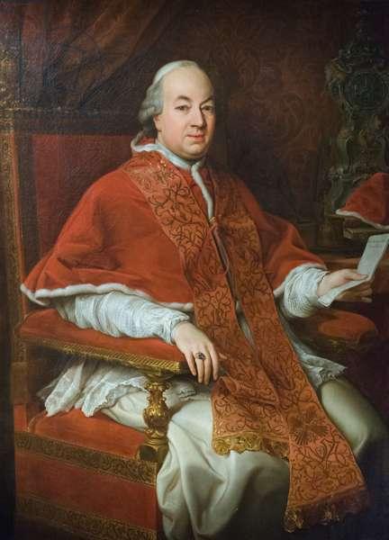 Portrait of Pius VI Braschi, c.1776 (oil on canvas)