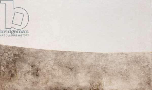 Grande bianco bis, 1968, Alberto Burri (painting)