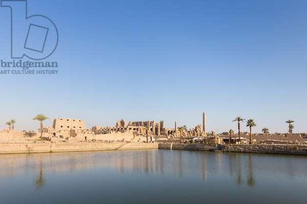 The sacred lake, Karnak temple complex, Luxor, Egypt