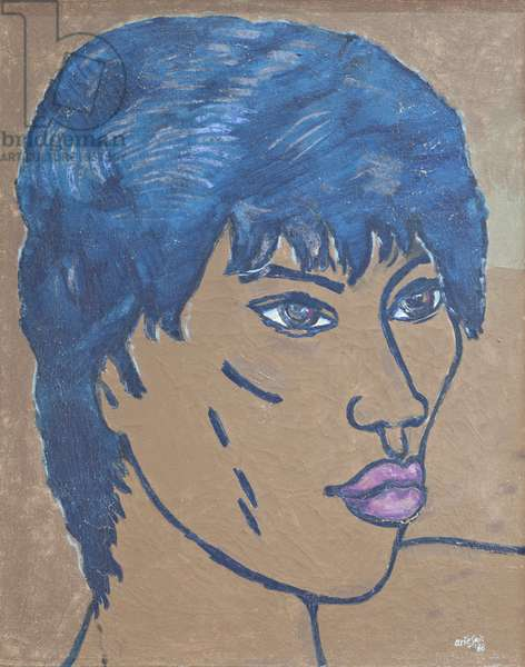 Portrait of a balinese youth, 1988 (acrylic on canvas)