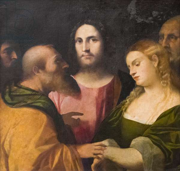 Christ and the Adulteress, 1525-28 (oil on canvas)