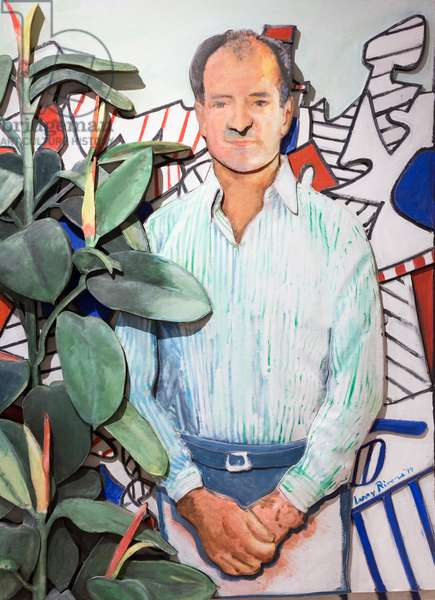Carlo with Dubuffet in the background, 1994, (oil on canvas)