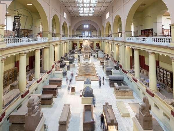 Main hall, Egyptian Museum, Cairo, Egypt