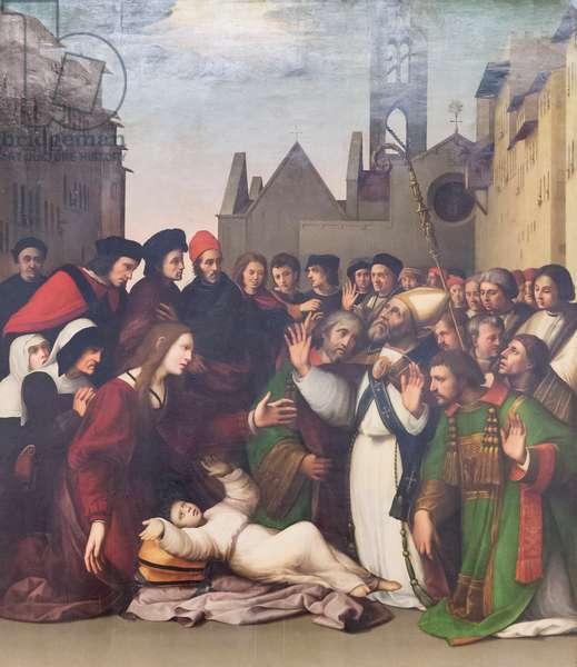 St Zenobius raises a boy from the dead, 1519 (oil on wood)