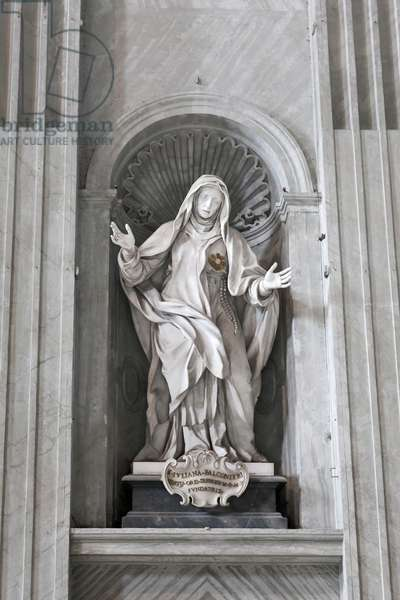 Statue of Saint Juliana Falconieri inside Saint Peter's basilica, Vatican City, Italy