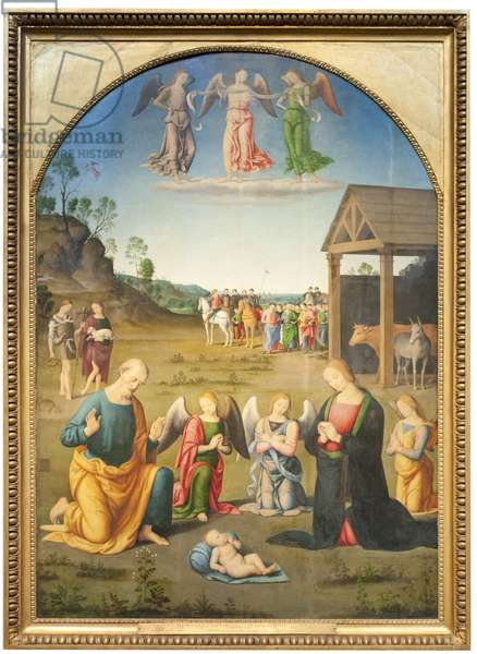 The Adoration of the Magi (oil on wood)