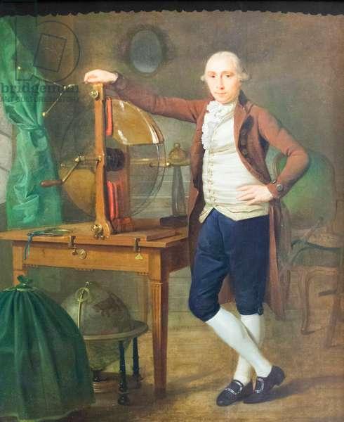 Tiberius Cavallo, c.1790 (oil on oak panel)