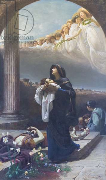 Saint Grata collects the remains of Saint Alexander, 1887 (oil on canvas)