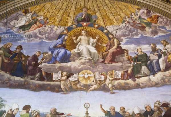 Detail of the Disputation of the Holy Sacrament, c.1509-10 (fresco)
