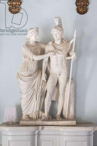 Marcus Aurelius and Faustina Minor as Mars and Venus, 147-149 AD (marble)