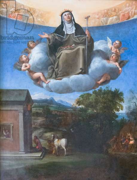 St Elizabeth in glory, 1603-04, Francesco Albani (oil on canvas)
