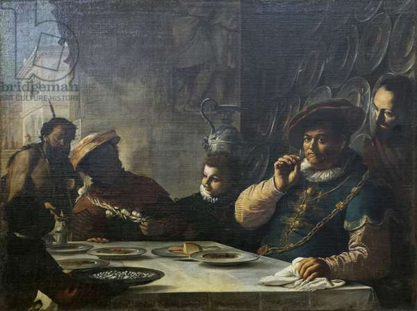 The feast of the rich man, 17th century (painting)