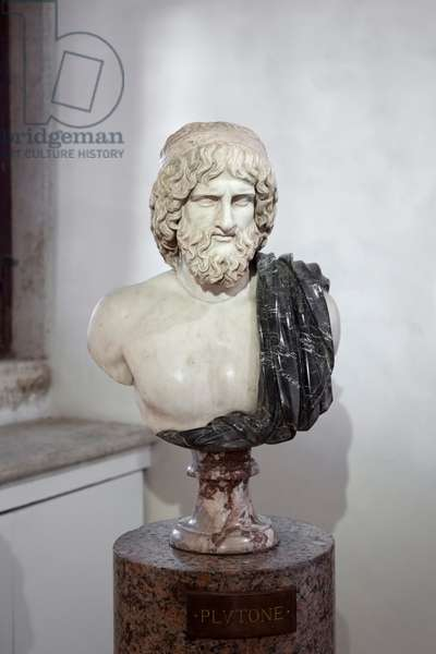 Pluto, Ludovisi collection, fine grained marble, National Roman Museum, Palazzo Altemps, Rome, Italy