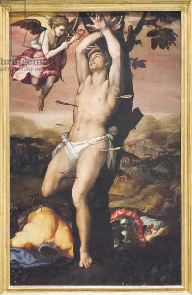 Saint Sebastian receives the Crown and Palm of Martyrdom, 1575 (oil on canvas)
