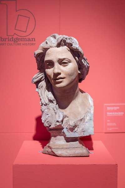 Portrait of Anna Gemito, 1886, (terracotta and clay)
