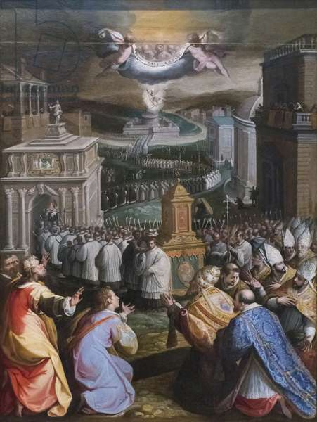 Procession of St Gregory the Great (oil on canvas)