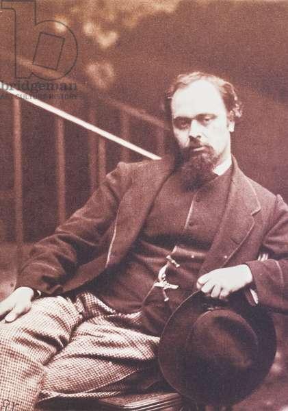 Dante Gabriel Rossetti, 1863 (b/w photo)