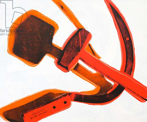 Hammer and sickle, 1977 (synthetic polymer paint and silkscreen on canvas)