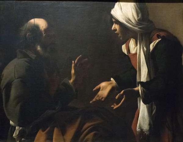 The Denial of Saint Peter (oil on panel)
