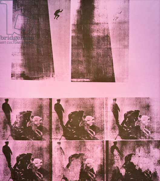 Suicide (purple jumping man), 1965 (acrylic and screen print on canvas)