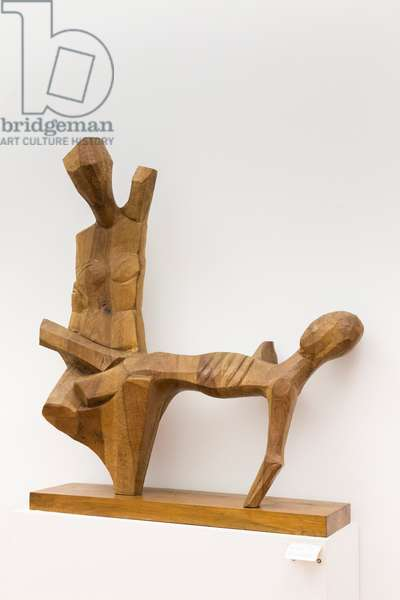 Pieta', 1965 (nut tree wood)