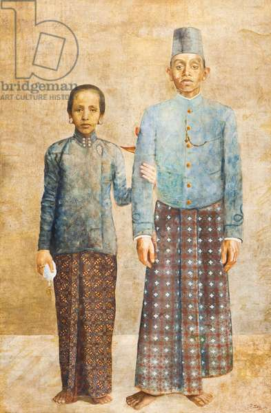Portrait of a Javanese Nobleman and his Wife, c.1837 (oil on canvas)