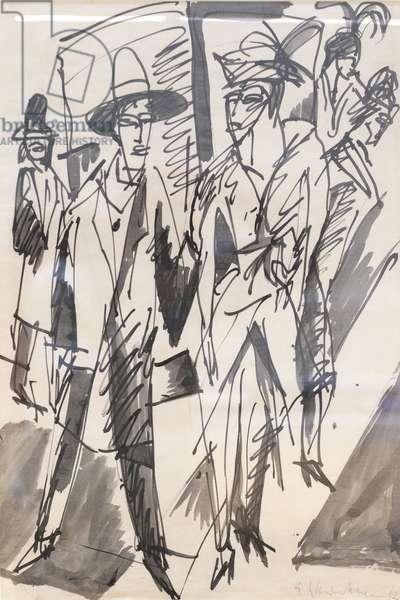 Stelle della strada, 1912 (ink & aquarel on paper)