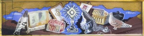 Religious Still Life, 1927 (tempera on canvas)