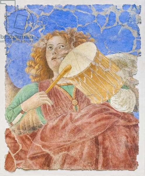 Music-making angels, c.1480 (restored fresco)