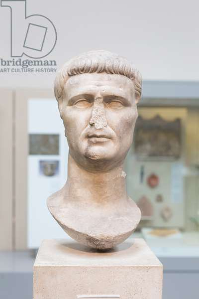 Head from a statue of Claudius, about 50 AD