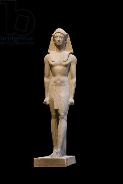 Statue of ptolemaic king, 332-30 BC, red granite, from Karnak, Egyptian Museum, Cairo, Egypt