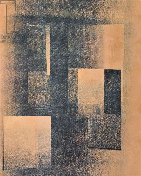 Blue in blue, 1926-29, (paper collage)