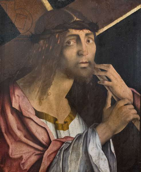 Christ carrying the cross, end of 15th century, (tempera on wood)